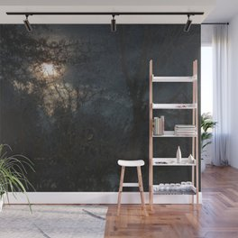 New Year's Moonlit River Wall Mural