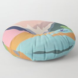 River Canyon Kayaking Floor Pillow