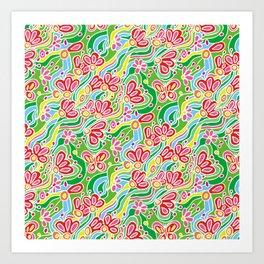 Reeling with Flowers Art Print