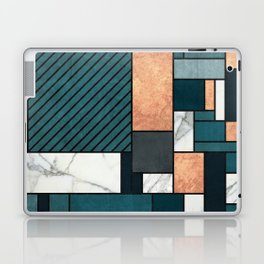 Random Pattern - Copper, Marble, and Blue Concrete Laptop & iPad Skin