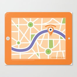 gps glance Canvas Print