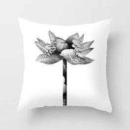 Floral Flower White Throw Pillow