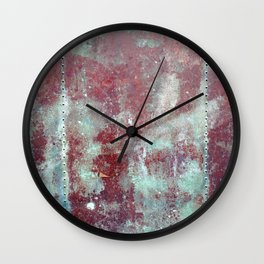 Background. Grunge and rusty metal surface Wall Clock
