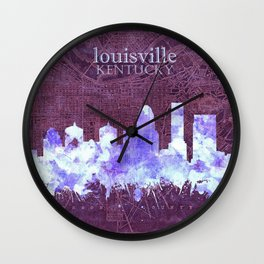 louisville skyline vintage Wall Clock