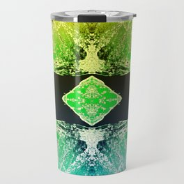 Green Mandala-Heart Chakra Travel Mug