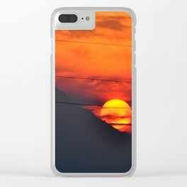 SUNSET OVER MOUNT HOOD Clear iPhone Case