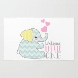 Baby Elephant - Welcome Little One Rug