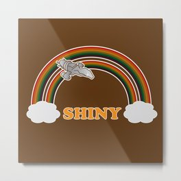 Shiny Serenity - Firefly | Featuring double rainbow Metal Print