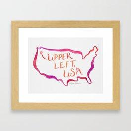 Upper Left, USA - Warm Hues Framed Art Print