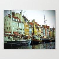 denmark Canvas Prints featuring Denmark by Milkflow Designs