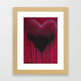 Red Heart Framed Art Print