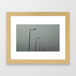 Lights in the sky Framed Art Print