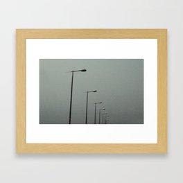 Lights in the sky Framed Art Print
