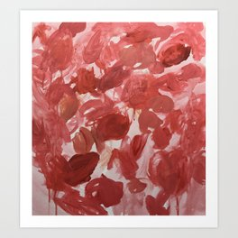 Chaotic Rose Patch Art Print
