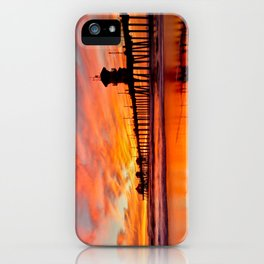 HB Sunsets   12/20/15  ~  Sunset At The Huntington Beach Pier iPhone Case