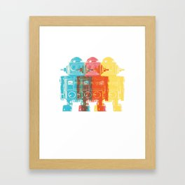 Blip Blop Bleep Framed Art Print