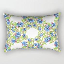 Maine Blueberries Lattice Design Rectangular Pillow