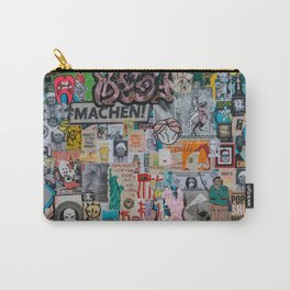 Sticker and graffiti wall background 2 - Berlin street art photography Carry-All Pouch