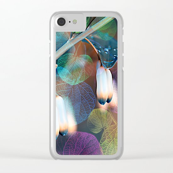 Floral abstract(48). Clear iPhone Case