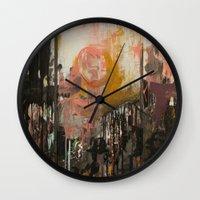 ramen Wall Clocks featuring Ramen Noodles by Chad Beroth