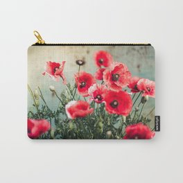 Fresh Poppies In Bloom Carry-All Pouch