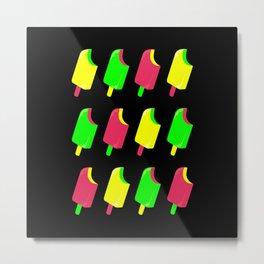 Popsicles Metal Print