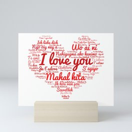 i love you in different languages Mini Art Print
