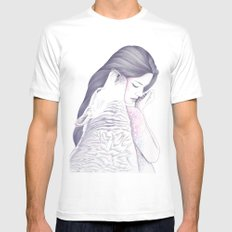 Twin Souls White Mens Fitted Tee MEDIUM