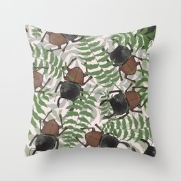 Mokohinau Stag Beetle Throw Pillow