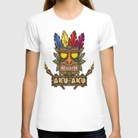playstation T-shirts featuring Aku-Aku (Crash Bandicoot) by Pancho the Macho