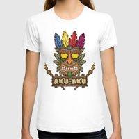 playstation T-shirts featuring Aku-Aku (Crash Bandicoot) by Pancho the Macho