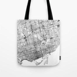 Toronto White Map Tote Bag