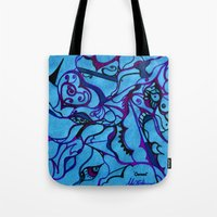 carousel Tote Bags featuring Carousel by Art by Mel