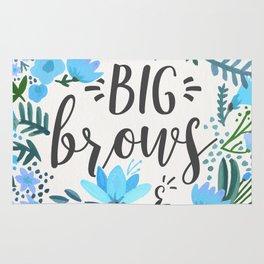 Big Brows – Blue Palette Rug