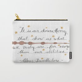 Choices Dumbledore J.K. Rowling Quote Carry-All Pouch