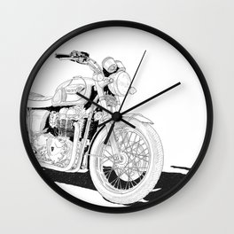 Freedom on a motorbike Wall Clock