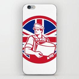 British Artisan Cheese Maker Union Jack Flag Icon iPhone Skin