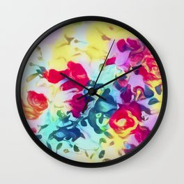 Summer Roses Wall Clock