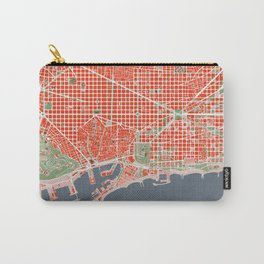Barcelona city map classic Carry-All Pouch