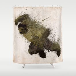 The Angry man Shower Curtain