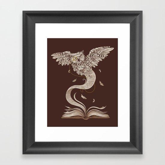 Flow of Wisdom Framed Art Print