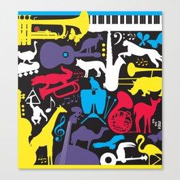 Jazz Zoo Canvas Print