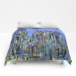 Blue Philadelphia Skyline Comforters