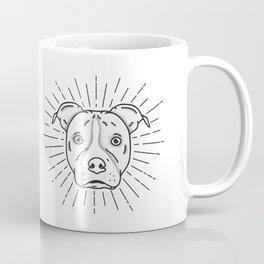 Radiant Dog Print - Black and White Coffee Mug