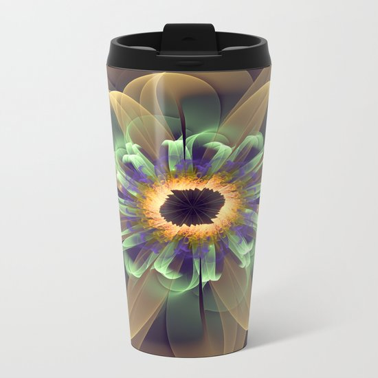 Cosmic Daisy Metal Travel Mug