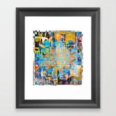 Sacred-Décollage Framed Art Print