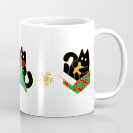 Velvet The Curious Cat - Christmas Coffee Mug