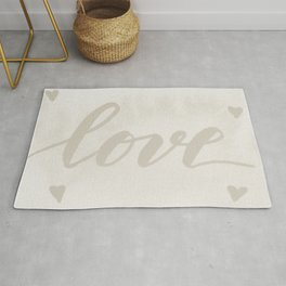 Valentine's Day Watercolor Love – white Rug