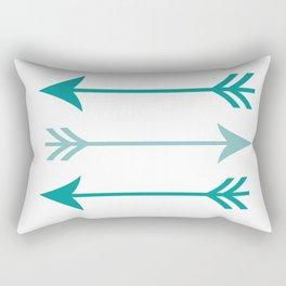 teal arrows Rectangular Pillow