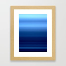 Blue Motion Blur Framed Art Print